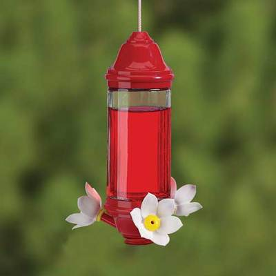Crystal Lantern Hummingbird Feeder  8 oz